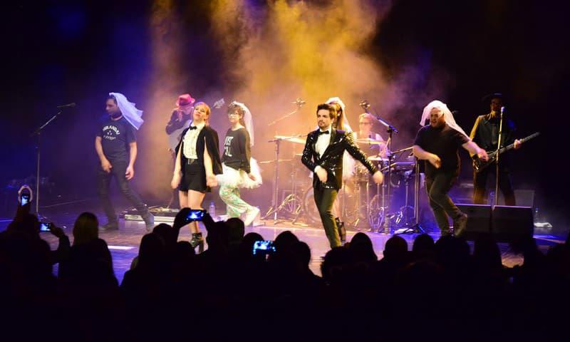 Imágenes de la presentación de Miranda en el Teatro Municipal